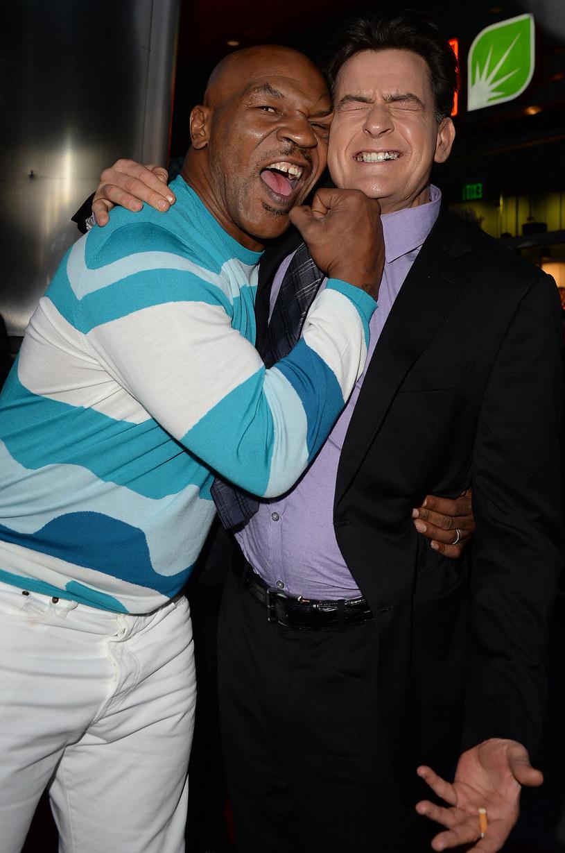 Charlie Sheen i Mike Tyson /Jason Merritt /Getty Images