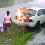 Chciała podpalić auto byłego chłopaka. Trochę jej nie wyszło…