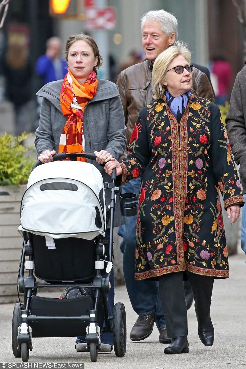 Chelsea Clinton, Bill Clinton, Hillary Clinton /East News