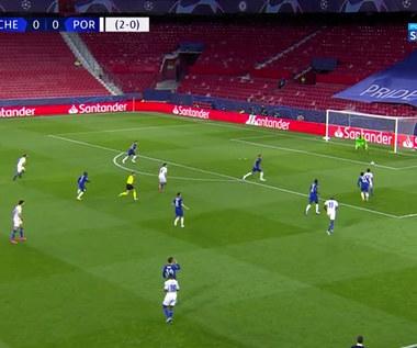 Chelsea - Porto w 1/4 finału Ligi Mistrzów. Piękna przewrotka Taremiego ozdobą spotkania. Skrót meczu (POLSAT SPORT). Wideo