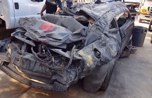Chevrolet Camaro po wypadku /