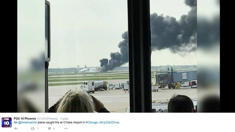 Chicago: Pożar samolotu na lotnisku. Są ranni /Twitter