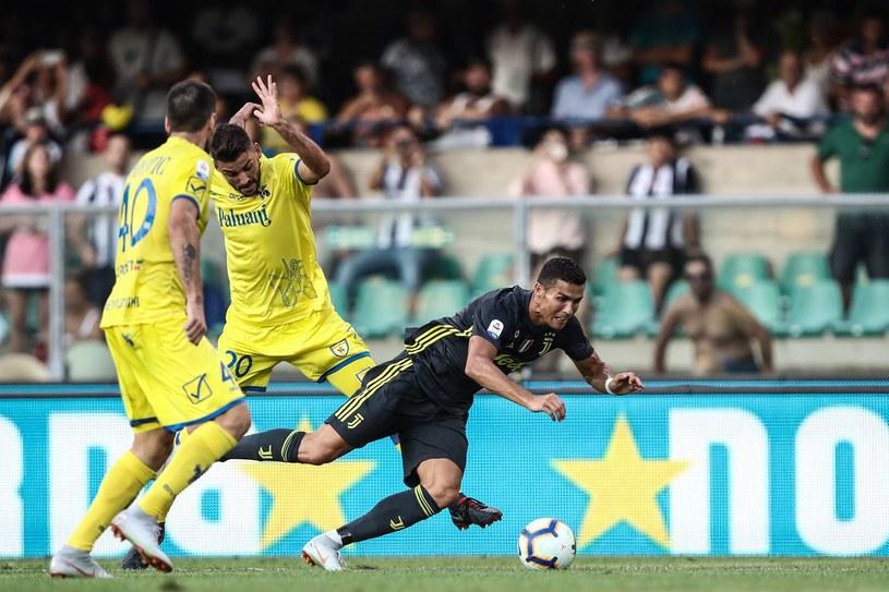 Chievo w meczu z Juventusem /AFP