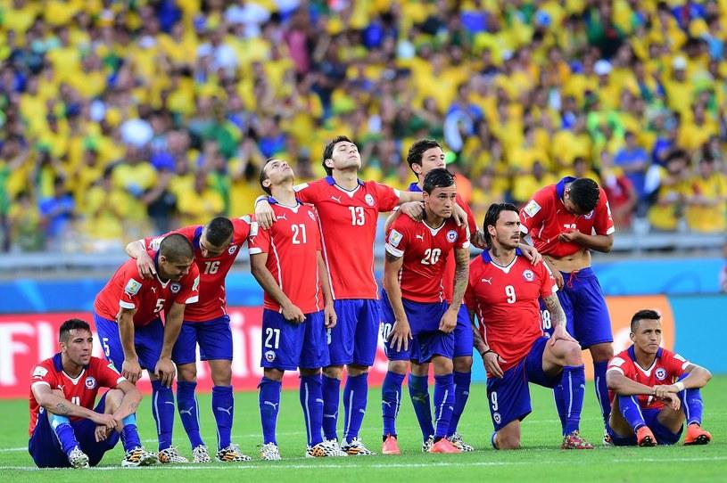 Chilijscy piłkarze podczas mistrzostw świata w Brazylii /AFP