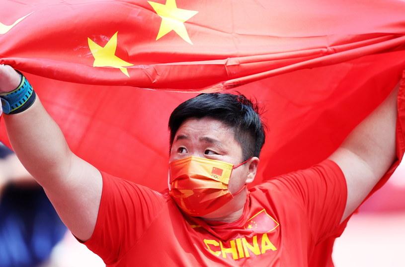 Chinka Lijiao Gong została w Tokio mistrzynią olimpijską w pchnięciu kulą /DIEGO AZUBEL /PAP/EPA