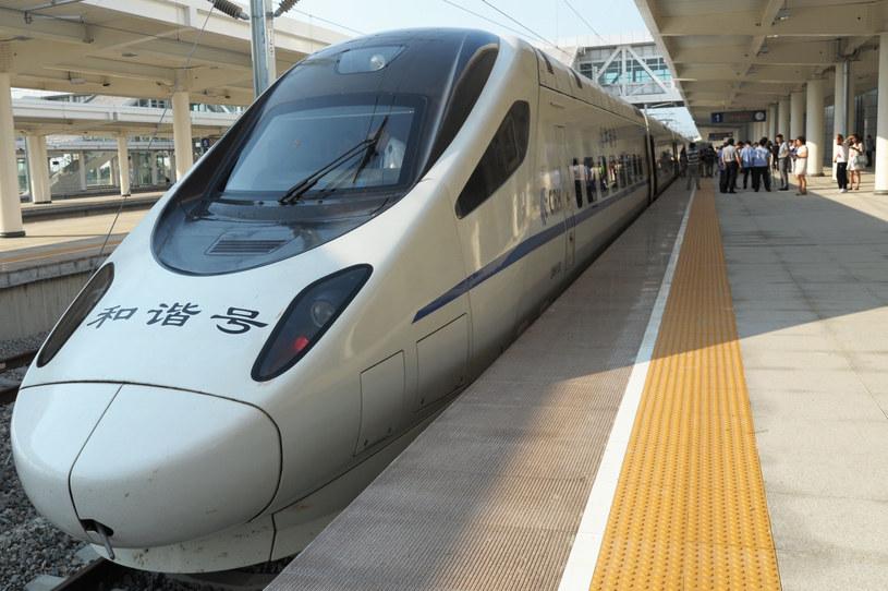 Chińska kolej rozwija się w szybkim tempie /AFP