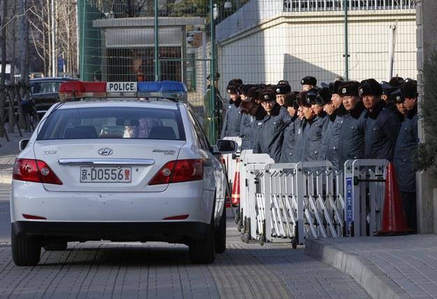 Chińska policja /ROLEX DELA PENA    /PAP/EPA