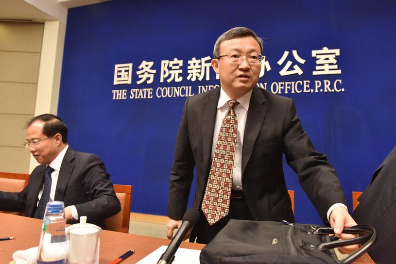 Chiński wiceminister handlu Wang Shouwen /Greg BAKER /AFP