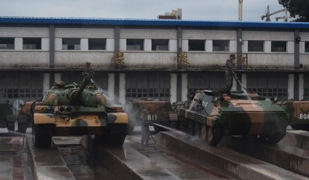 Chińskie czołgi /AFP