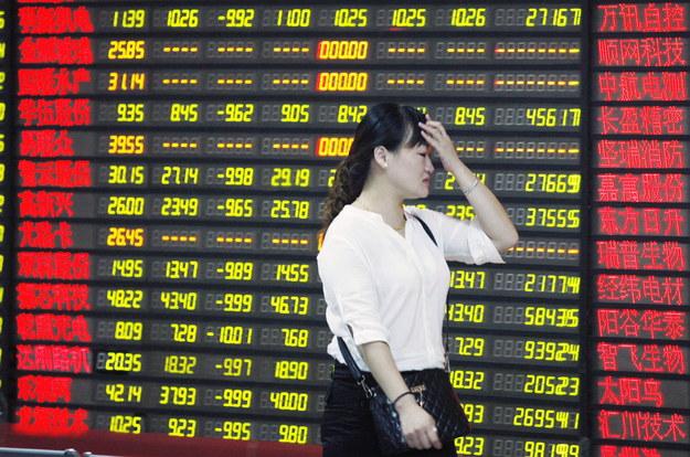 Chiny: Znów spadki na giełdach. W zachodniej Europie nareszcie zielono