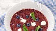 Chłodnik jagodowy - liliowe lato na talerzu