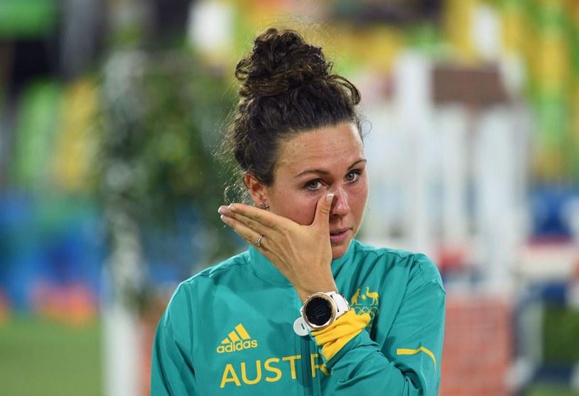 Chloe Esposito na najwyższym stopniu podium podczas igrzysk w Rio /AFP