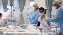 Chłopcy uratowani z jaskini pozdrawiają ze szpitala