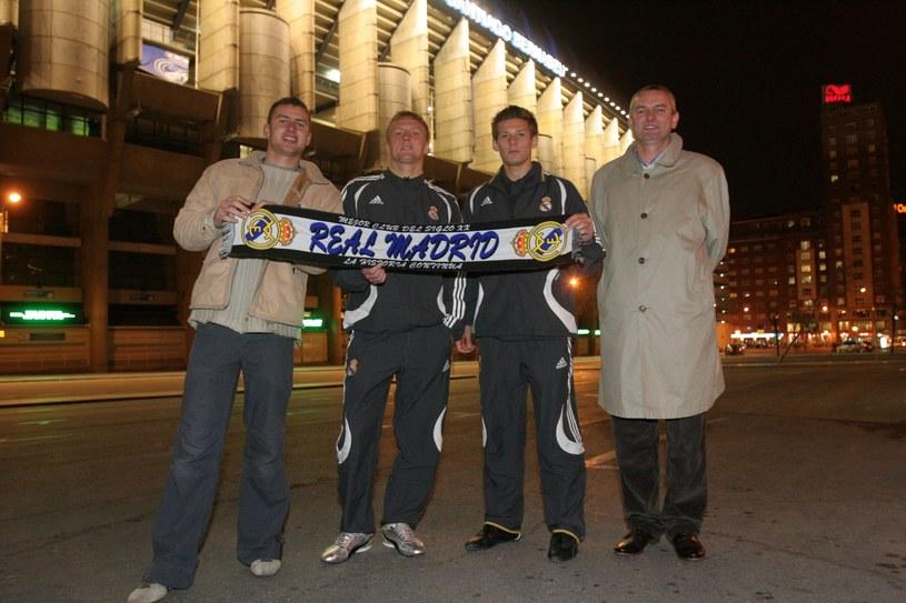 Chłopcy z WSP zimą 2007, kiedy podpisali kontrakty z Realem Madryt. Od lewej: Marcin Pontus, Kamil Glik, Krzysztof Król i Janusz Pontus /Informacja prasowa