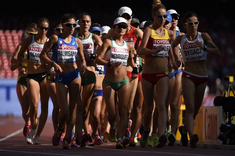 Chód sportowy kobiet /AFP