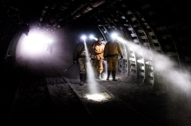 Chodnik na poziomie 840 metrów w kopalni w Rudzie Śląskiej / Andrzej Grygiel    /PAP