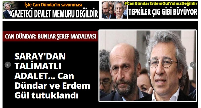 """Chodzi o pracowników dziennika """"Cumhuriyet"""" /źródło: www.cumhuriyet.com.tr /"""