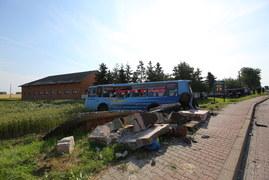 Chojno: Zderzenie autobusu z ciężarówką