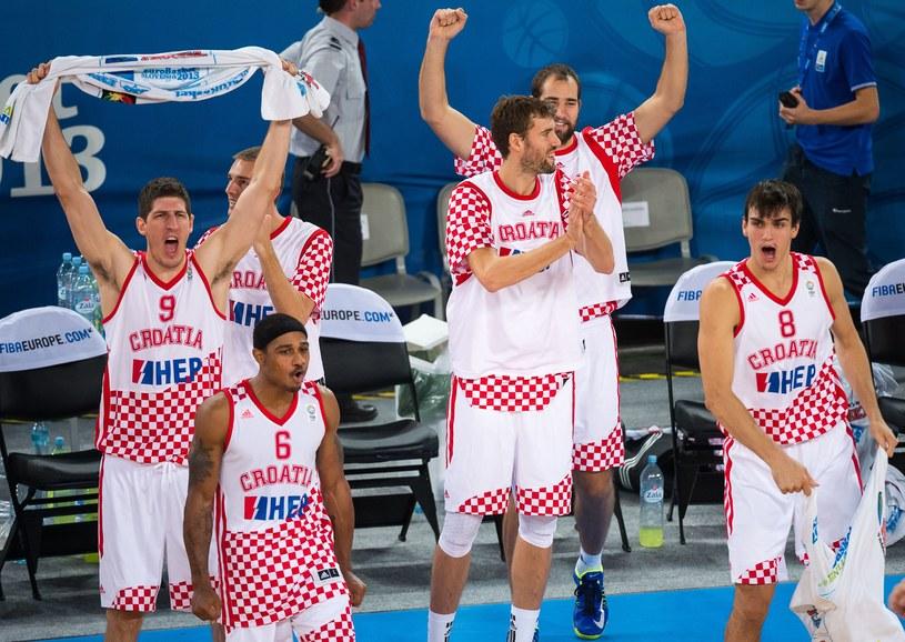 Chorwaci cieszą się z awansu /AFP