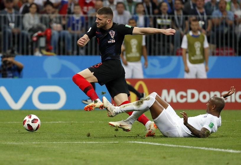 Chorwacki napastnik Ante Rebić w meczu z Anglią /PAP/EPA