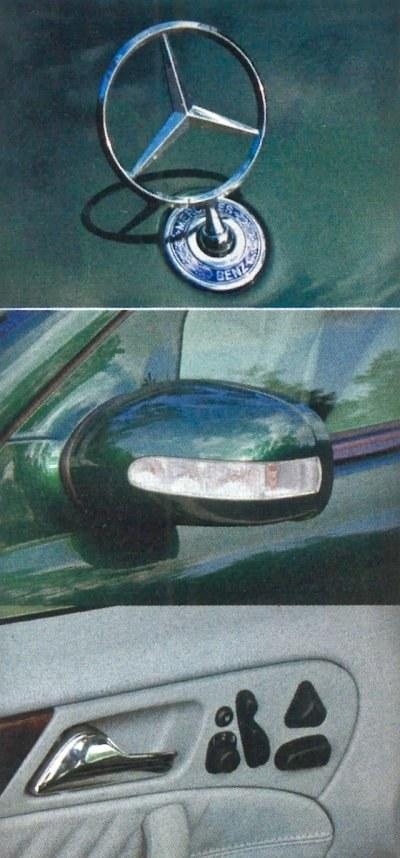 Chowana gwiazda, kierunkowskazy w lusterkach i zaawansowany system ustawiania fotela, to rzeczy typowe we współczesnych Mercedesach. /Motor