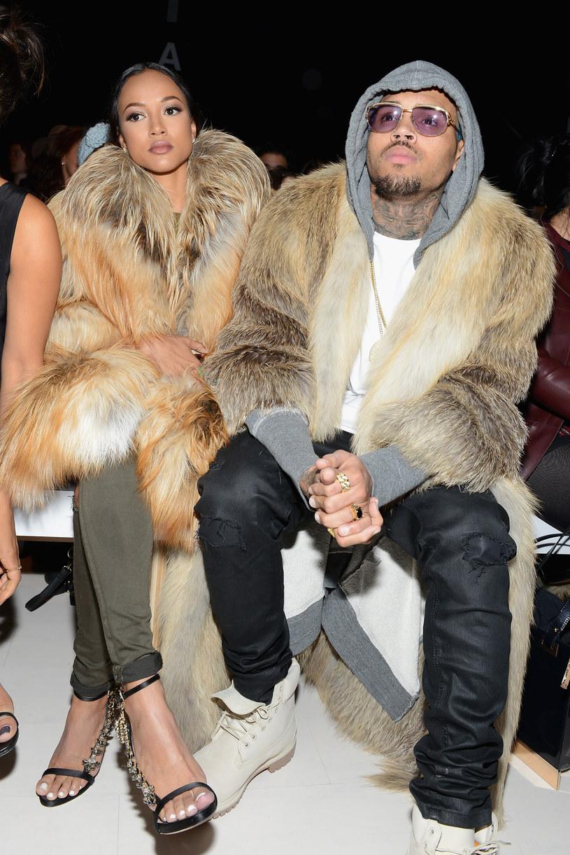 Chris Brown z obecną partnerką, Karrueche Tran /Noam Galai /Getty Images
