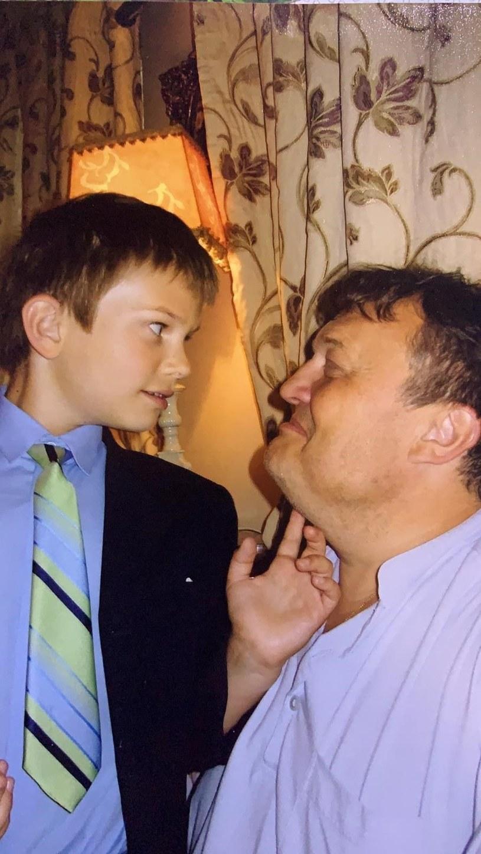 Chris Cugowski z tatą /Polsat /materiał zewnętrzny