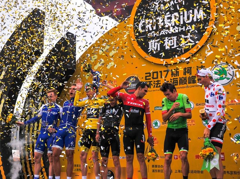 Chris Froome (żółta koszulka) Alberto Contador (czerwona) /AFP