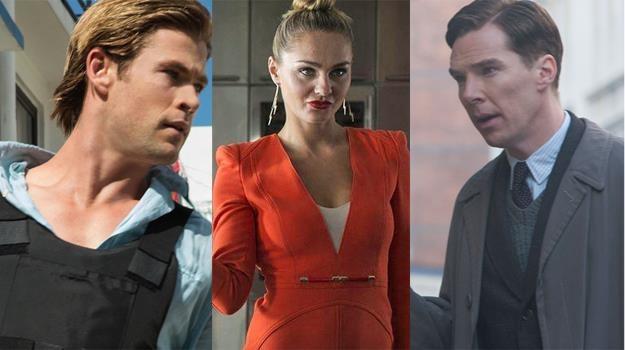 """Chris Hemsworth (""""Haker""""), Małgorzata Socha (""""Wkręceni 2"""") i Benedict Cumberbatch (""""Gra tajemnic"""") /materiały prasowe"""