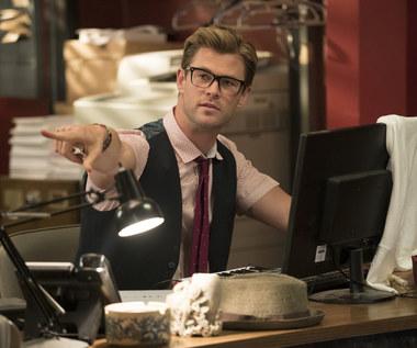 """Chris Hemsworth w scenie z filmu """"Ghostbusters. Pogromcy duchów"""""""
