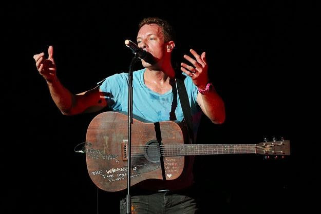 Chris Martin, frontman Coldplay (fot. Brendon Thorne) /Getty Images/Flash Press Media