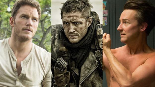 """Chris Pratt (""""Jurassic World""""), Tom Hardy (""""Mad Max""""), Edward Norton (""""Birdman"""") - gwiazdy 2015 roku /materiały prasowe"""