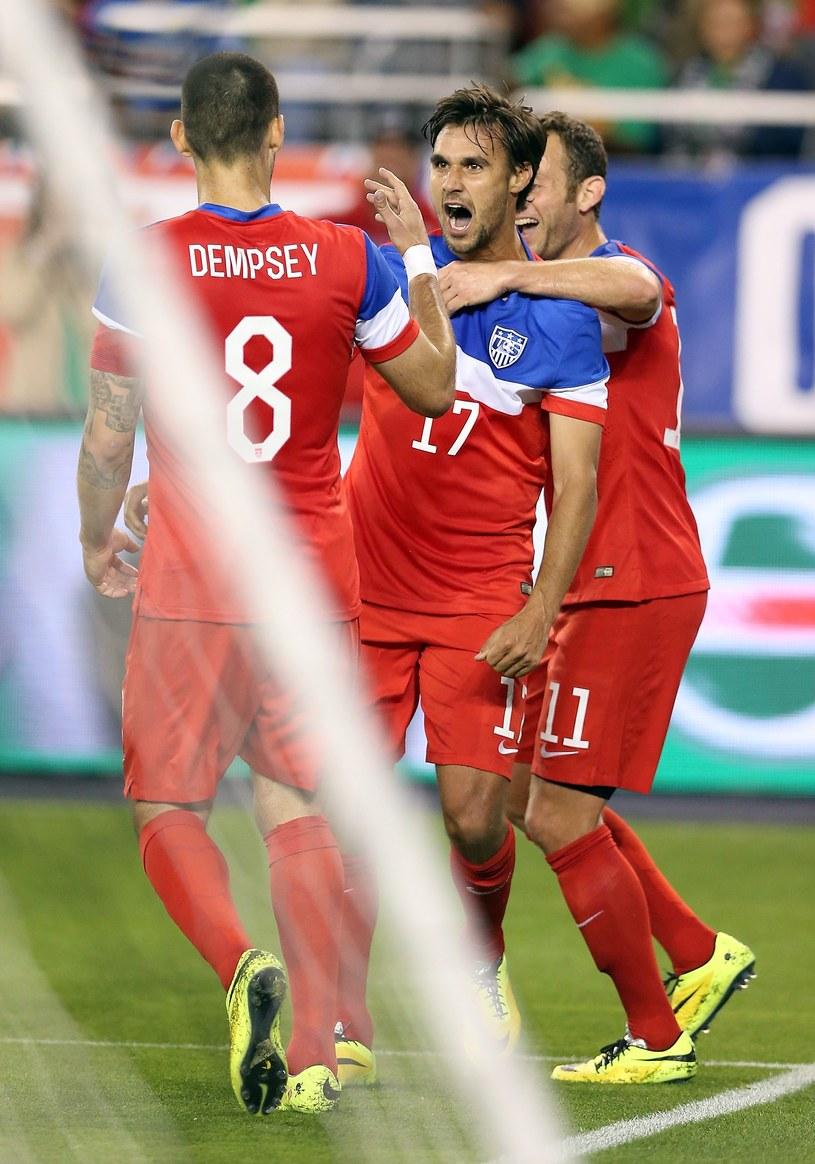 Chris Wondolowski cieszy się z gola dla USA /AFP