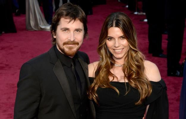 Christian Bale wraz z małżonką podczas tegorocznej oscarowej gali /AFP