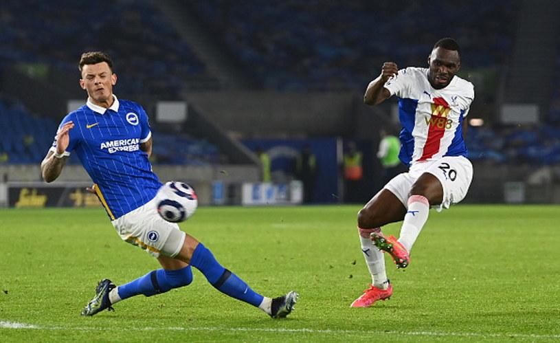Christian Benteke (w białej koszulce) zapewnił Crystal Palace zwycięstwo w meczu z Brighton /Andy Rain/PA Images /Getty Images