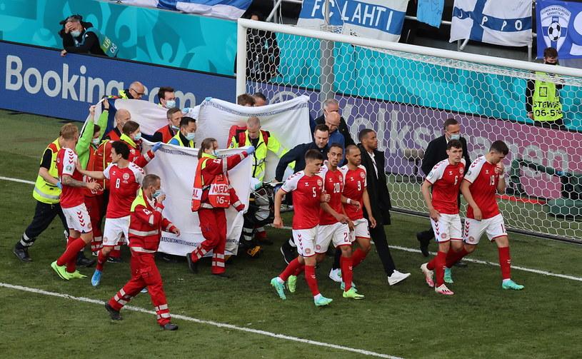Christian Eriksen doznał zawału serca w meczu z Finlandią /Wolfgang Rattay /Getty Images