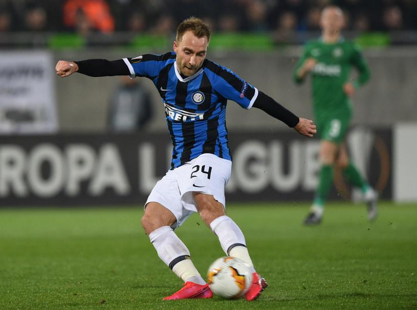 Christian Eriksen w barwach Interu Mediolan /NIKOLAY DOYCHINOV  /AFP