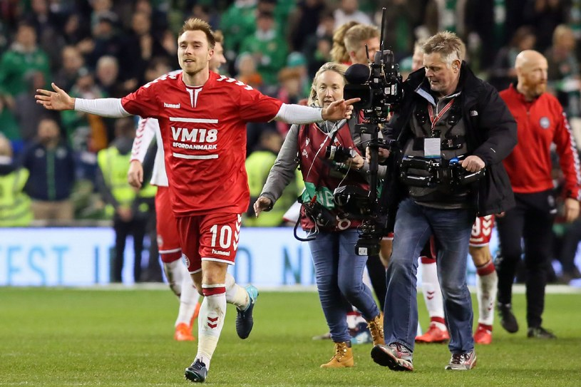 Christian Eriksen został bohaterem Duńczyków /AFP