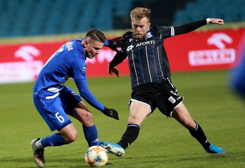 Christian Gytkjaer w meczu ligowym z Wisłą Płock /Piotr Augustyniak /PAP