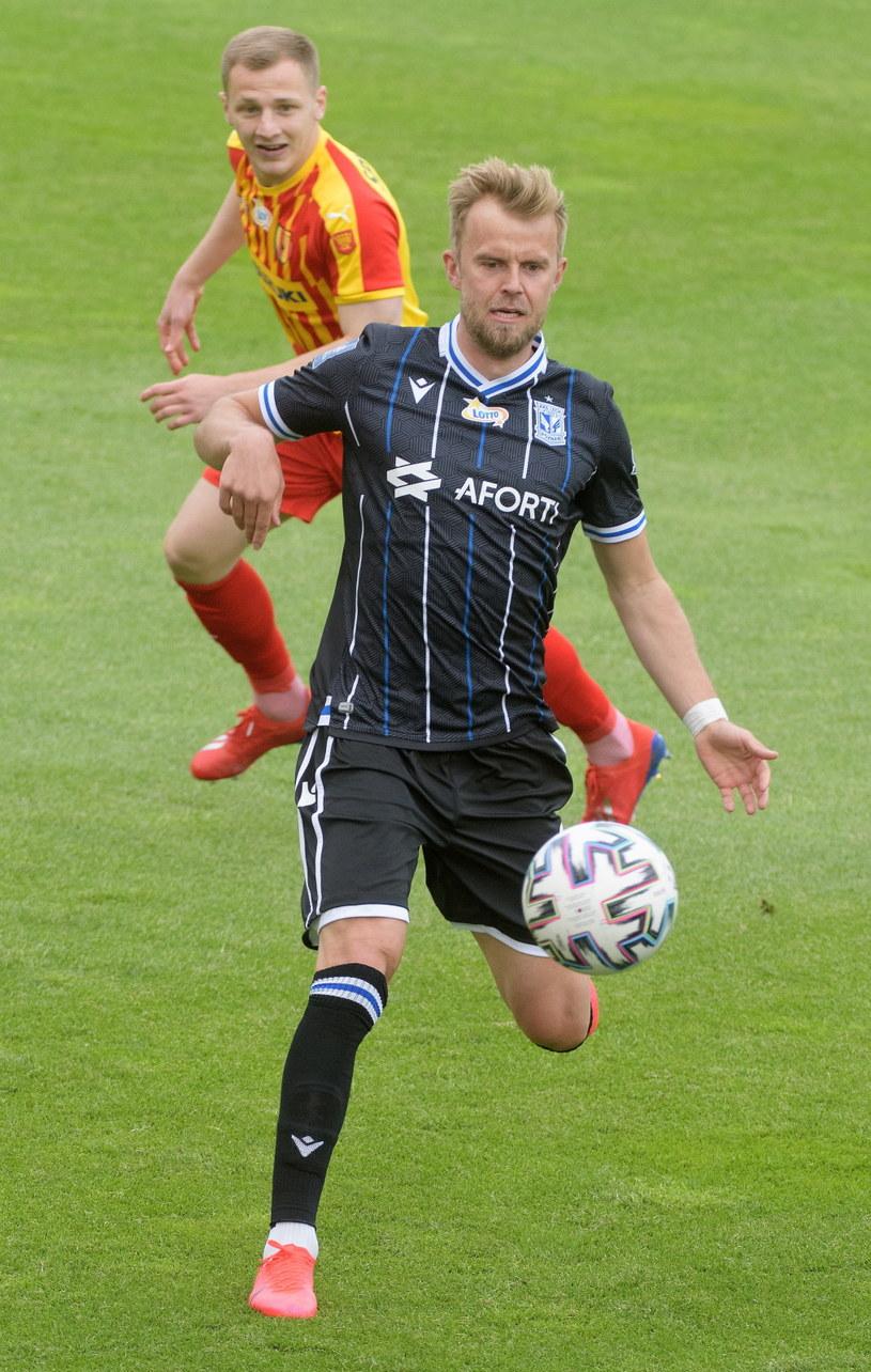 Christian Gytkjaer zagrał bardzo dobrze i strzelił trzy bramki /PAP/Grzegorz Michałowski /PAP
