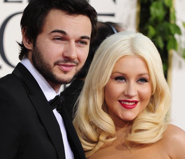 Christina Aguilera i jej partner, Matthew Rutler /AFP