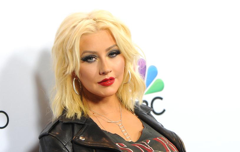 Christina Aguilera jeszcze kilka lat temu kojarzyła się z mocnym makjiażem /Angela Weiss /Getty Images