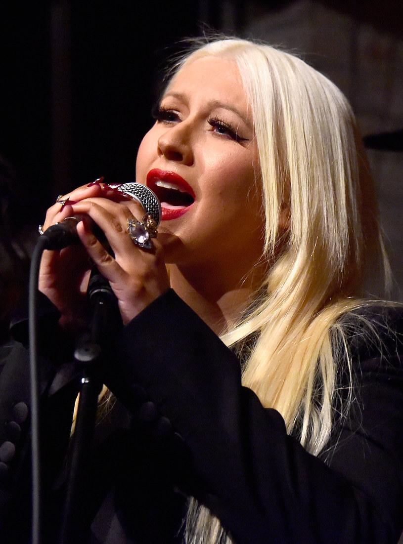 Christina Aguilera jeszcze niedawno była blondynką /Frazer Harrison /Getty Images
