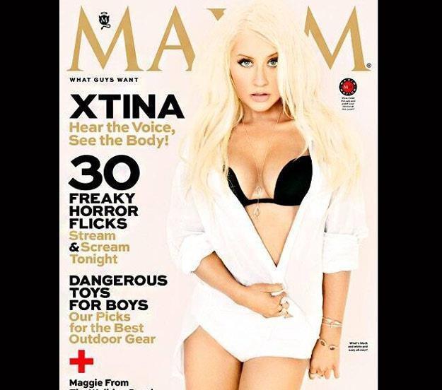 "Christina Aguilera na okładce magazynu ""Maxim"" /"