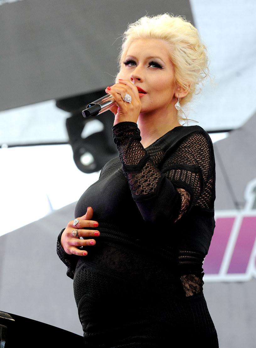 Christina Aguilera niedługo rodzi! /Kevin Winter /Getty Images
