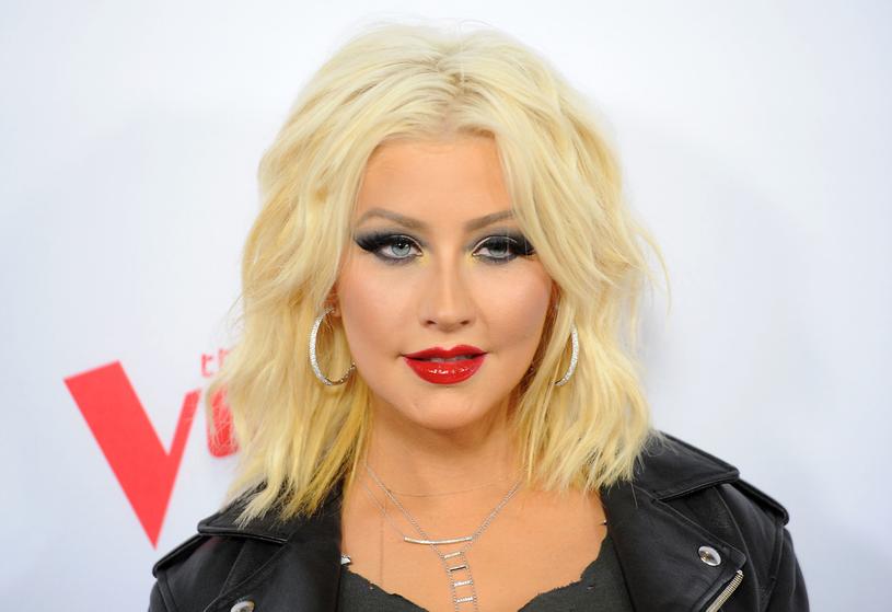 Christina Aguilera w makijażu /Angela Weiss /Getty Images