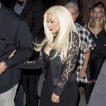 Christina Aguilera w peruce na imprezie!