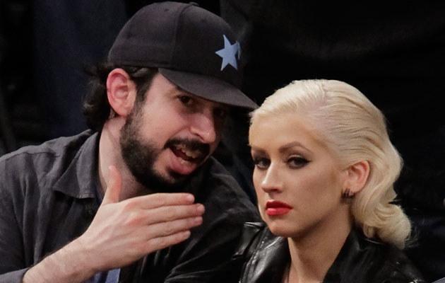 Christina Aguilera z mężem, fot. Noel Vasquez  /Getty Images/Flash Press Media