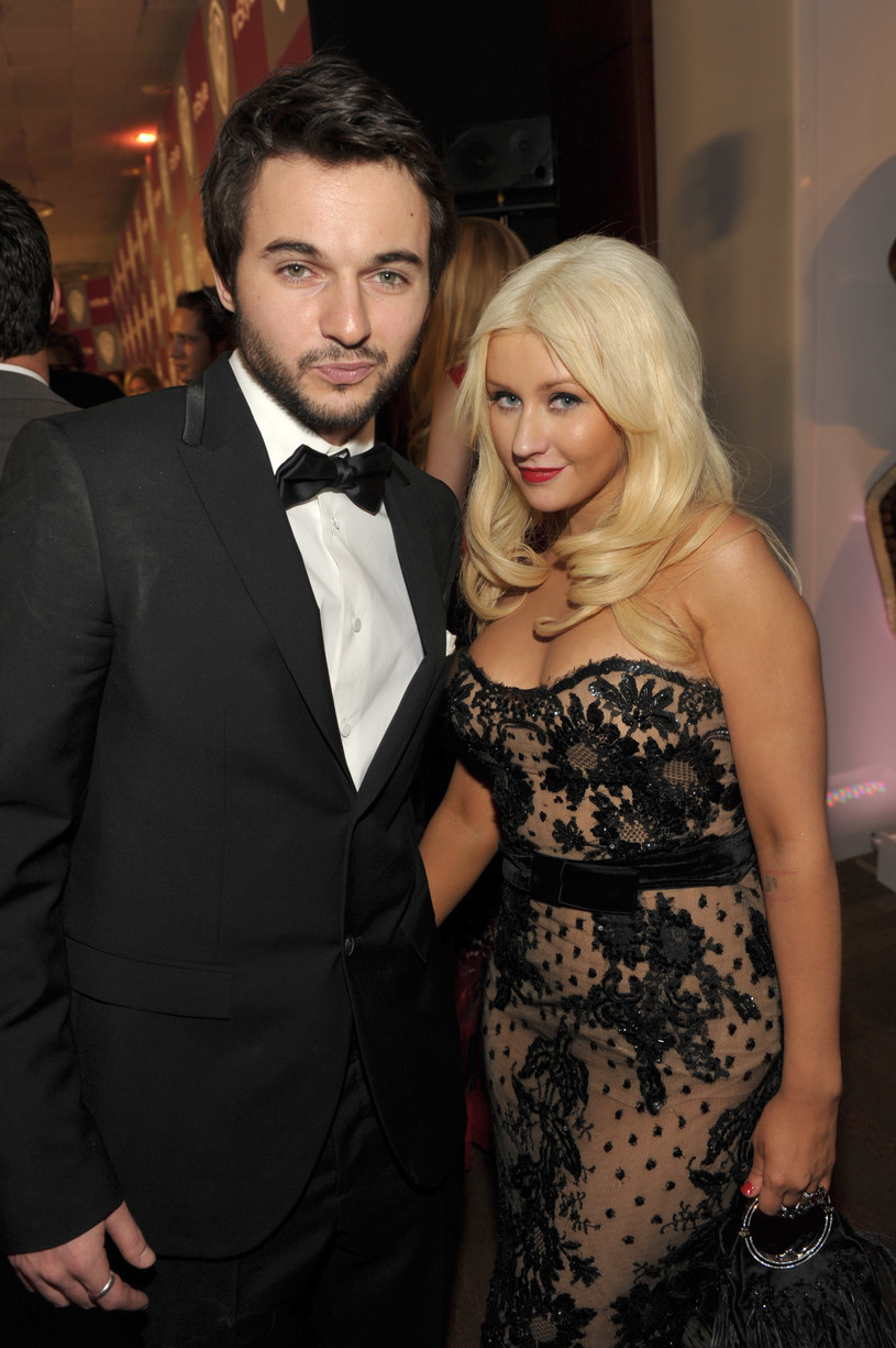 Christina Aguilera z narzeczonym /John Shearer /Getty Images