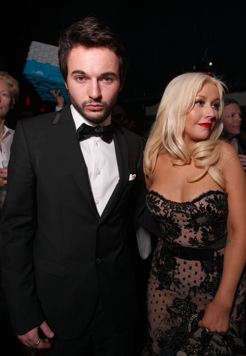 Christina Aguilera z narzeczonym /Alexandra Wyman /Getty Images